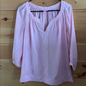 Pink seersucker Lilly Pulitzer blouse